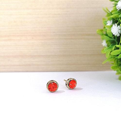 Aretes Zirconia Naranja