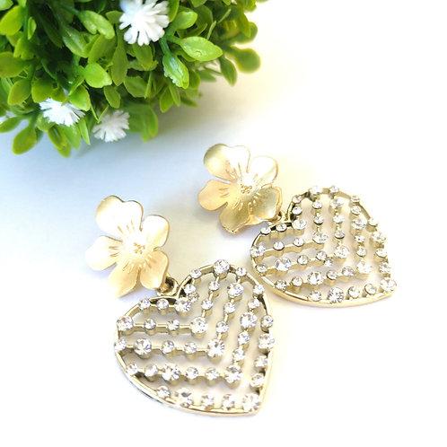 Aretes Flor y Corazón