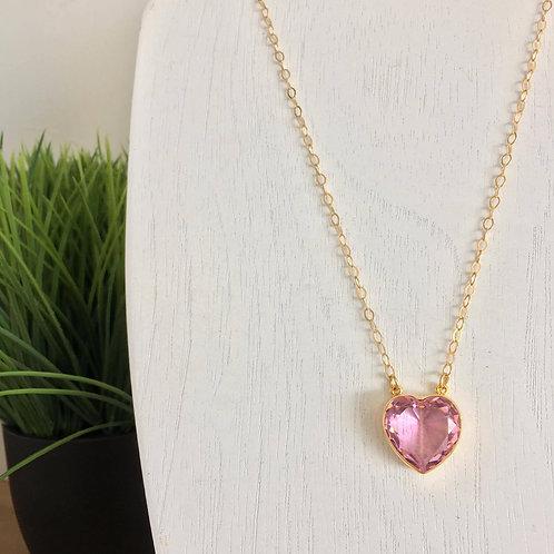 Corazón de Cristal rosa
