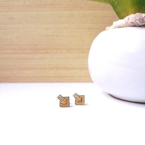 Aretes Cubo con Zirconias