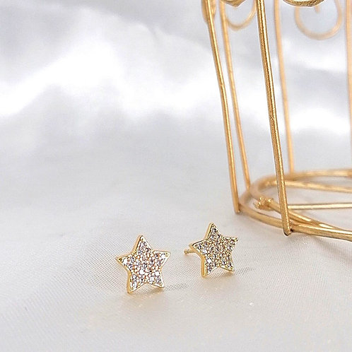 Aretes Estrella con Zirconias