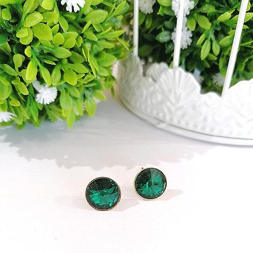 Arete Verde Esmeralda de swarovski