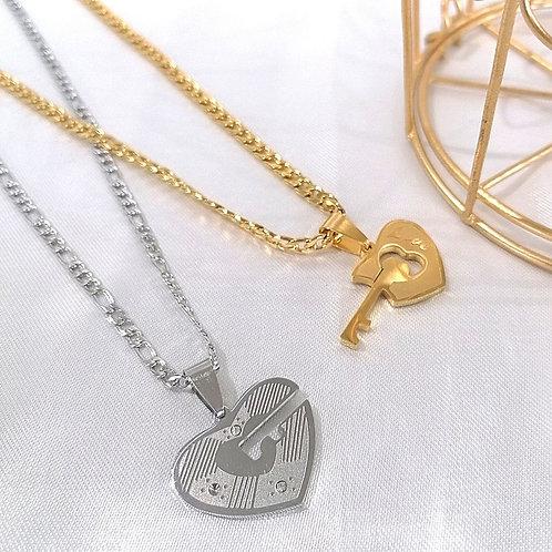 Cadenas Dúo Corazón y Llave
