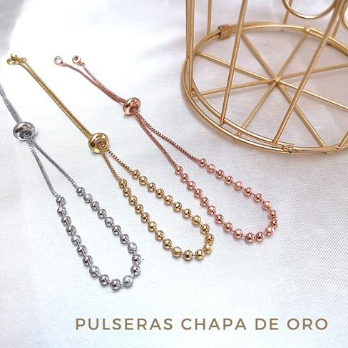 Pulseras Chapa de Oro
