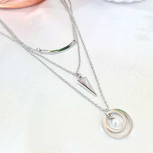Cadena Triple con péndulo y perla