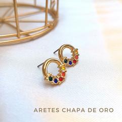 Aretes Chapa de Oro
