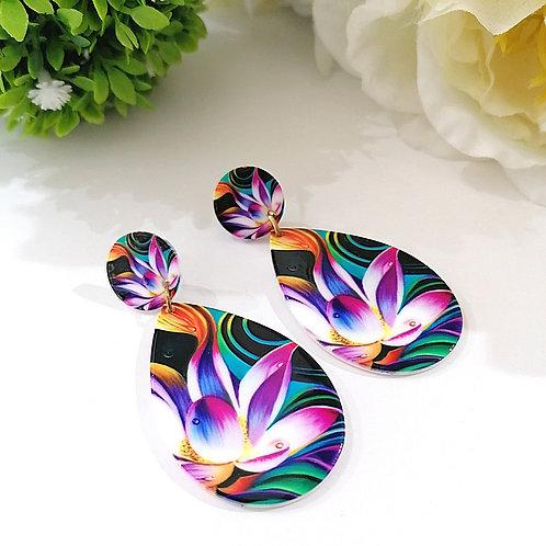 Aretes Gota de Colores
