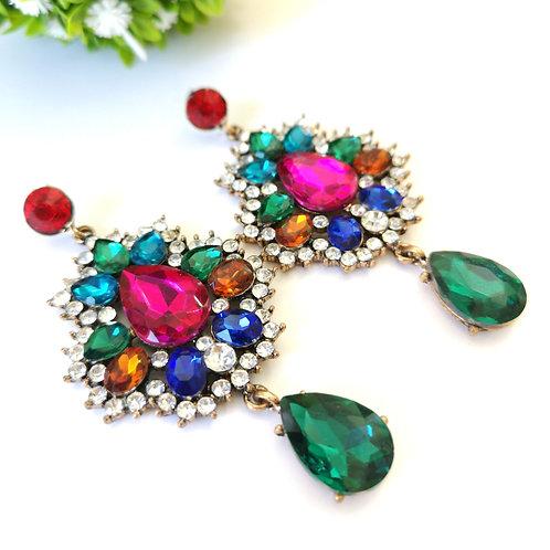 Arete Cristal Colores