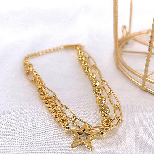 Pulsera doble Estrella