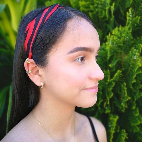 Banda cabello Estampado rojo