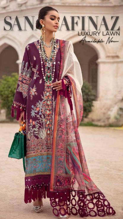 Sanasafinaz uk luxury lawn pakistani wea