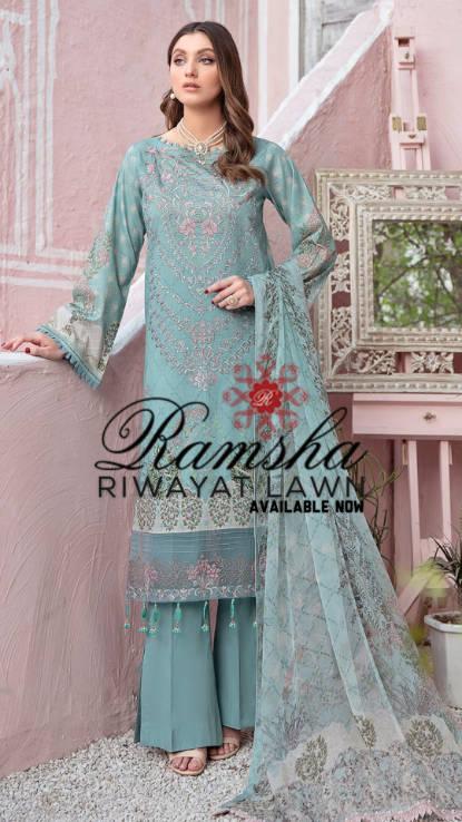 Ramsha uk pakistani Lawn at hoorain.uk