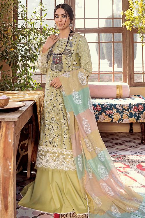Qalamkar   Luxury Lawn 2021   04 - 3Pc Stitched