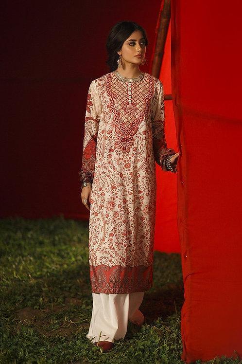 Cross Stitch | Tabeer Premium Lawn '21 | Glided Stitch-2Pc Stitched