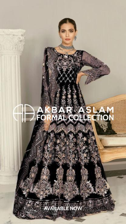 AkbarAslam uk pakistani wear at hoorain.