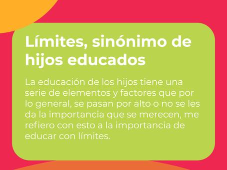 Límites, sinónimo de hijos educados