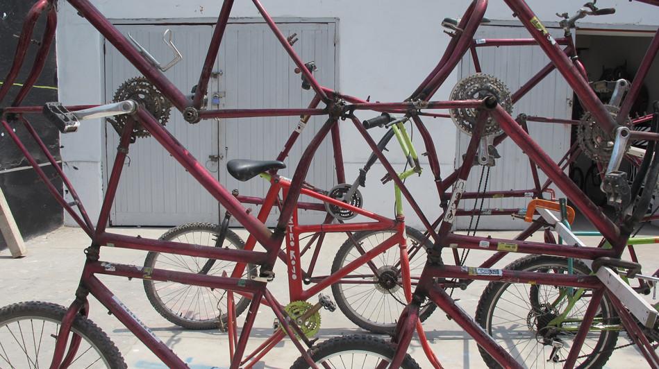 Acumulacion de bicicletas