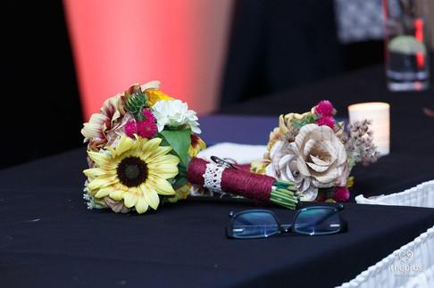 DIY wedding - bridal bouquet and bridesmaid bouquet
