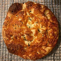 cheddar and chive focaccia
