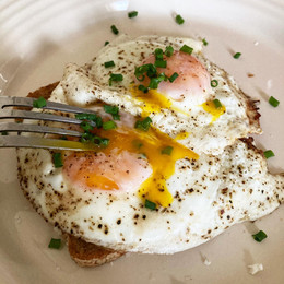sunny side up + chives