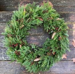 Deluxe front door wreath