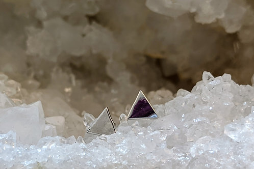 SOLID TRIANGLE STUDS IN STERLING SILVER