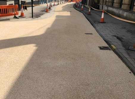 City centre improvements using High Friction Surfacing