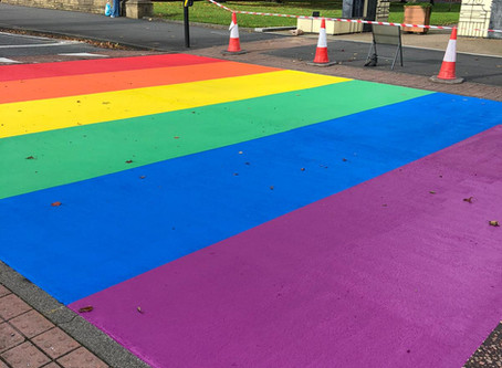 Pride crossing completed in Salford