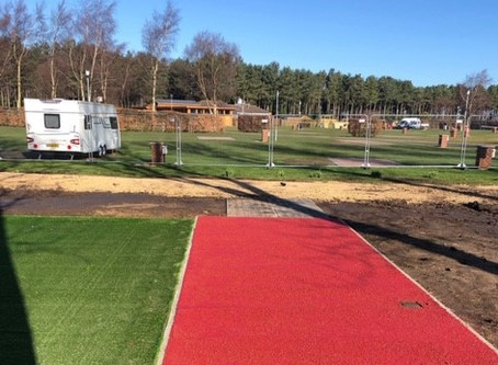 Trustseal install high friction surfacing on a caravan park....