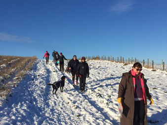 Map and Compass training in snow