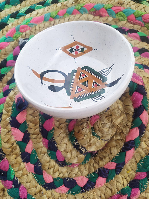 Joli coupelle / bol aux motifs berbères entièrement fait main