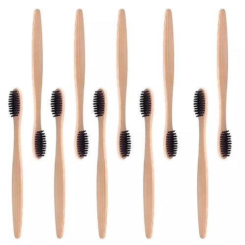 Brosse à dents souple en bambou naturel