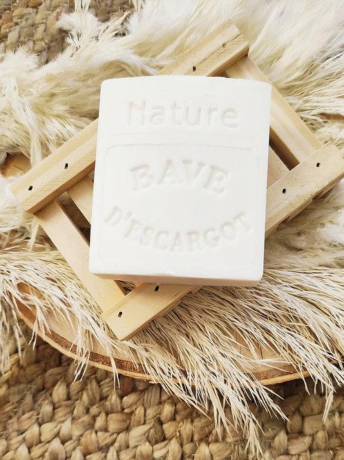 Savon artisanal réparateur à la bave d'escargot & à la fleur de coton
