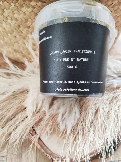 Savon noir pur traditionnel marocain 500 g