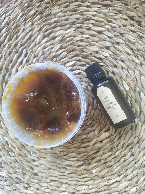 Tresors artisanaux du Maroc :huile d'argan certifiee bio & savon Noir