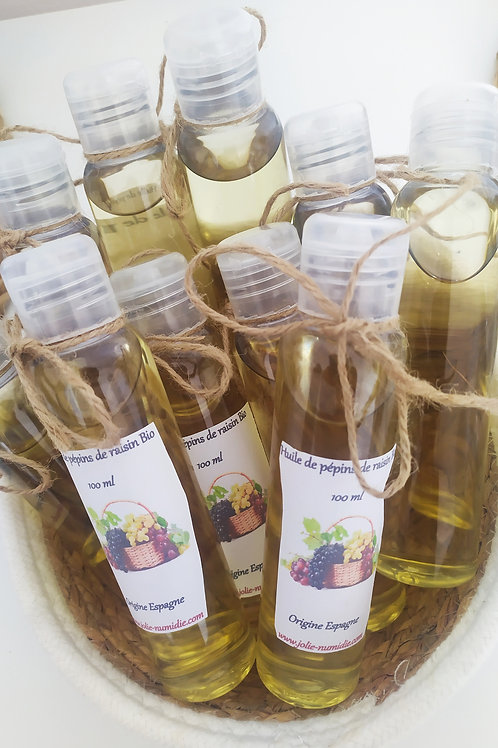 Huile de pépins de raisin Bio pure