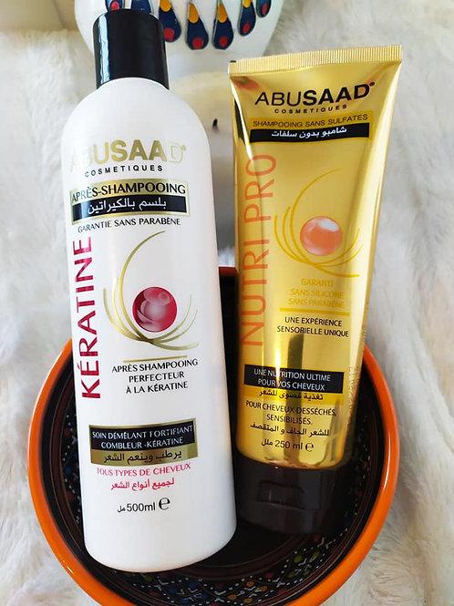 Duo Shampoing et après shampoing à la Kératine sans sulfates sans paraben