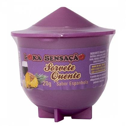 Vela comestível sorvete quente -Espanhola