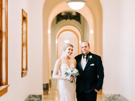 Chelsey + Dustin's Elegant Winter Wedding