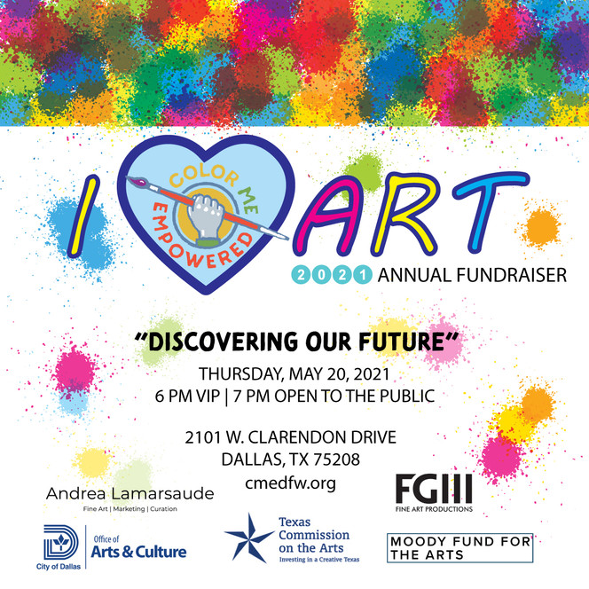 Color Me Empowered - 2021 I Heart Art Annual Fundraiser