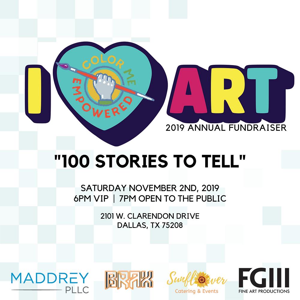 Color Me Empowered | I Heart Art Fundraiser | November 2, 2019