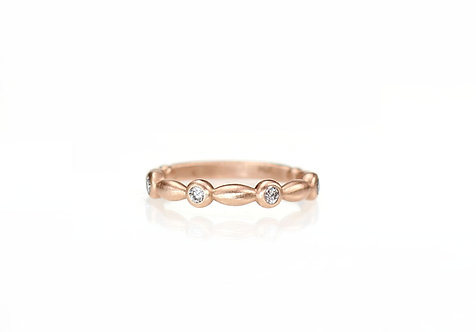inspiration diamond band in 14kt rose (made to order)