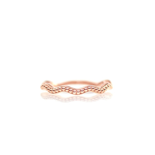 rose gold beaded wave band