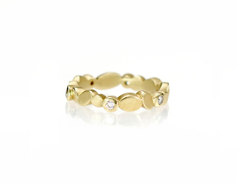 reflection ring in 18kt yellow gold