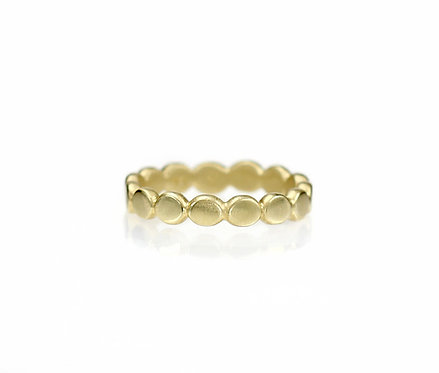 pebble eternity band in 18kt yellow  (made to order)