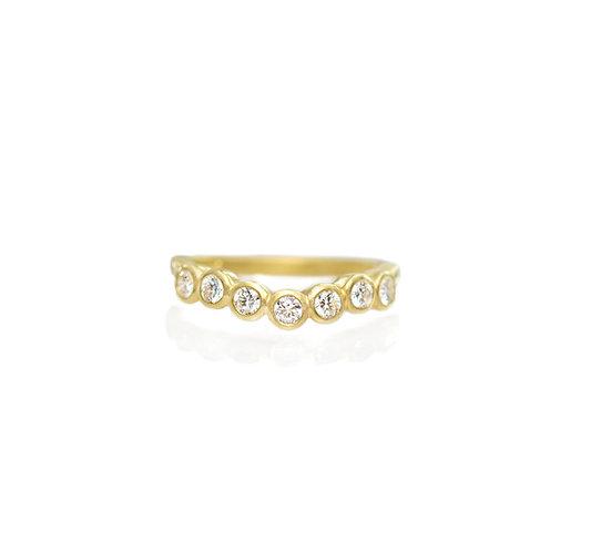 curved diamond bezel band
