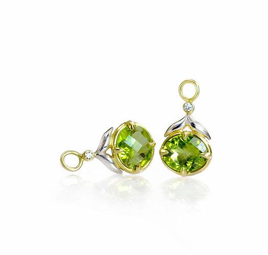 peridot and diamond winged leaf drop