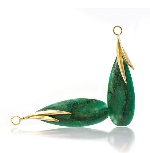 African jade beach grass drops in 18kt
