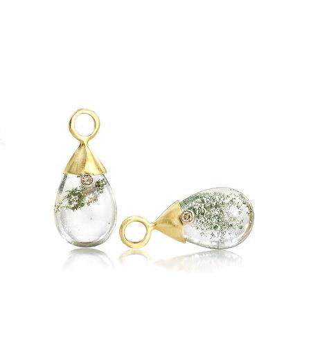 garden quartz drops with champagne diamonds