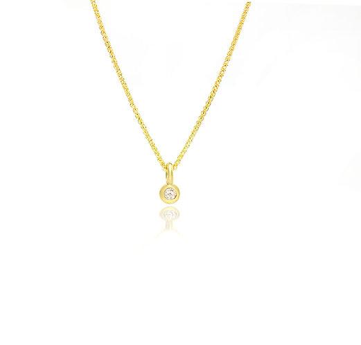 yellow diamond solitaire pendant